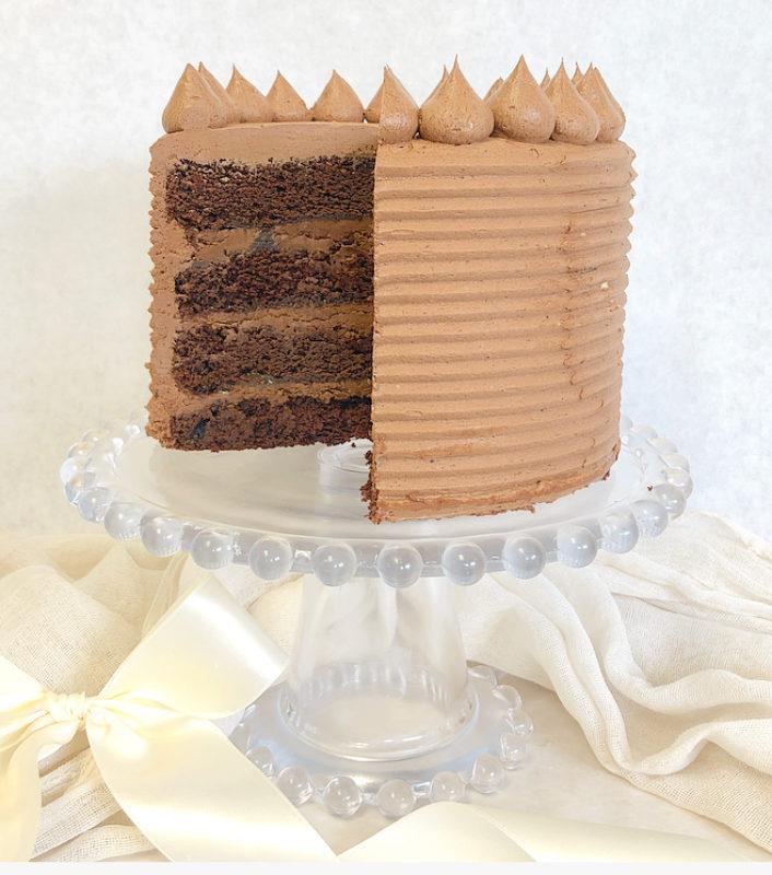 Chocolate Salted Caramel Cakes