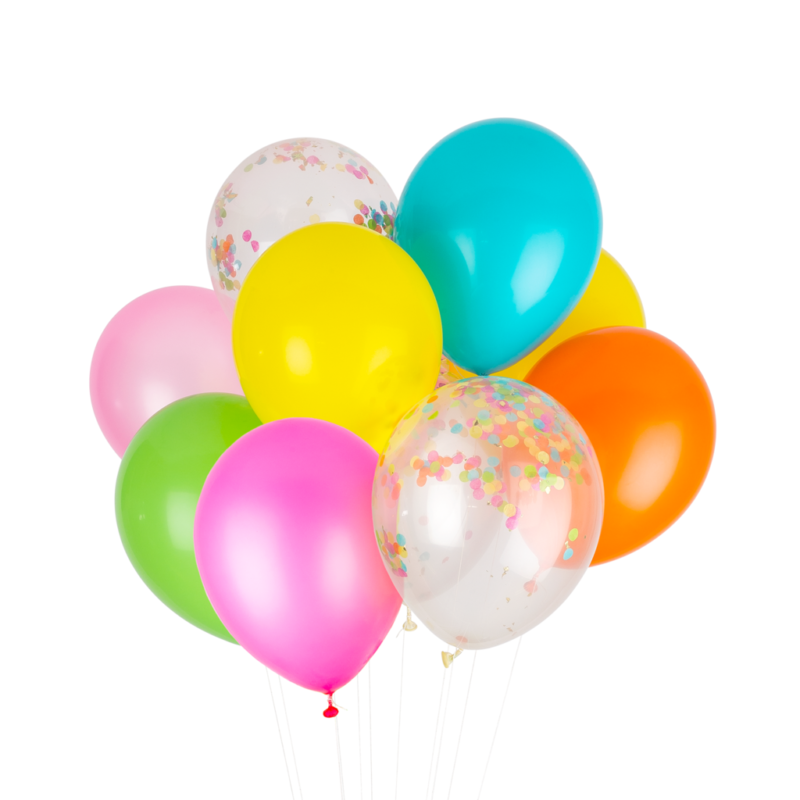Fiesta Rainbow Party Balloons