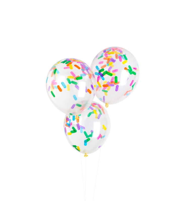 Sprinkle Rainbow Party Balloons