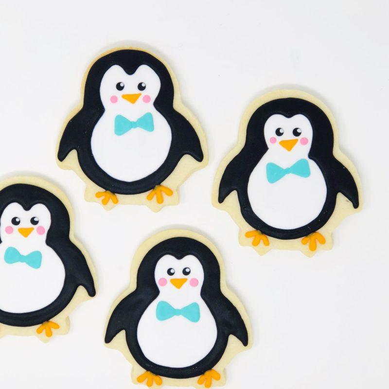 Vegan Penguin Shaped Cookies – 6 Individually Packaged