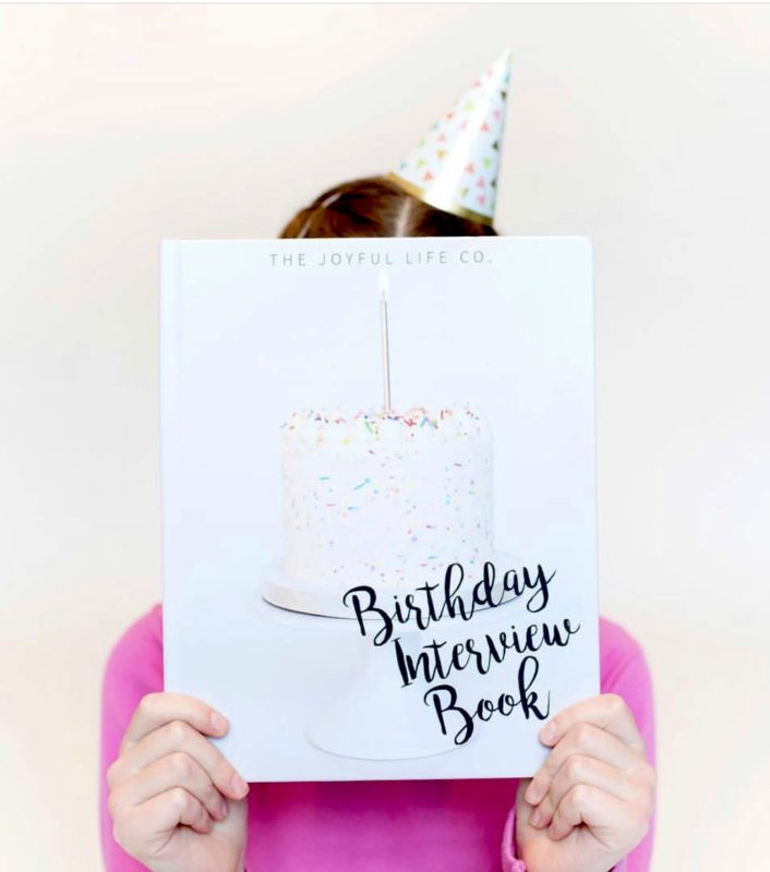 Birthday Interview Book