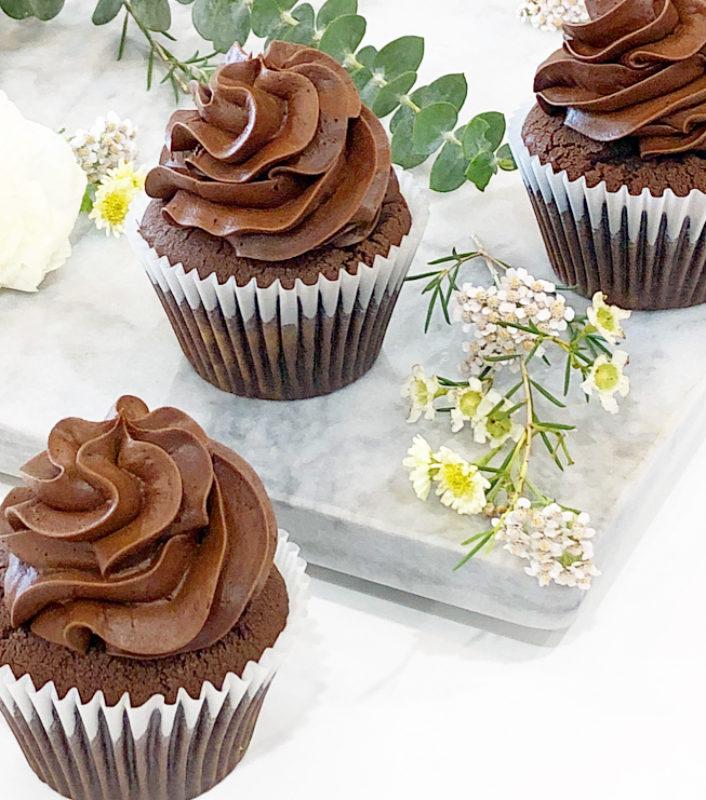 Classic Black Chocolate Cupcakes