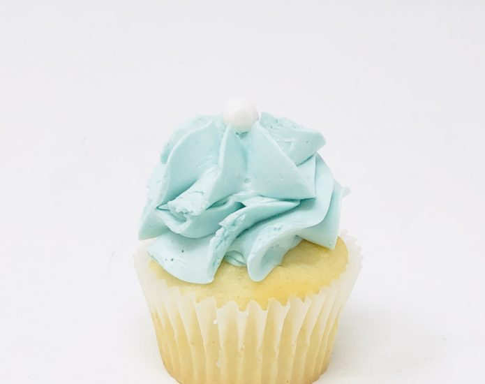 Luxe Blue Mini Cupcakes