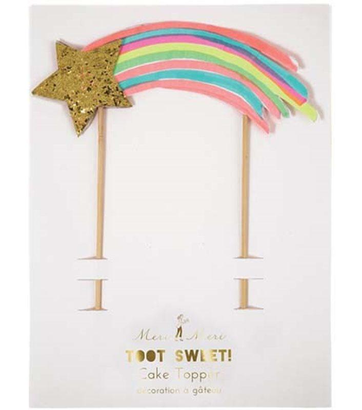 Rainbow Star Cake topper