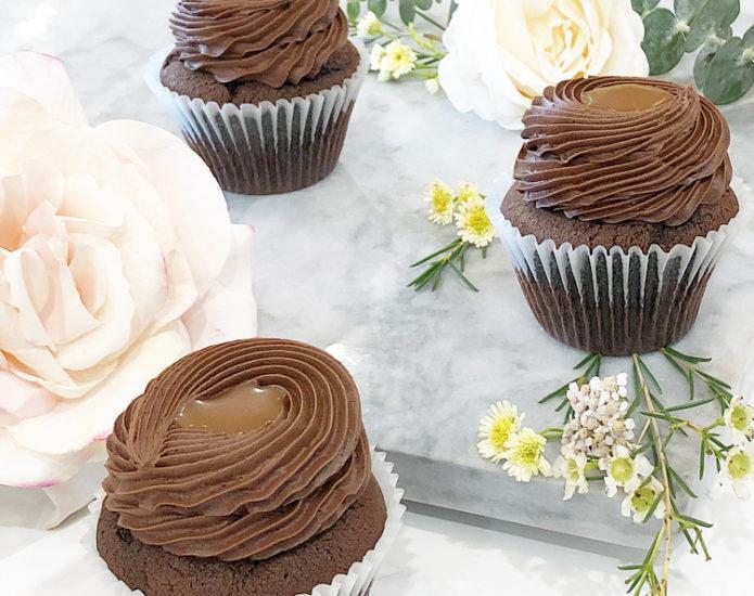 Classic Chocolate Salted Caramel Cupcakes