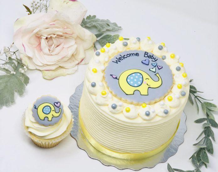 Vegan Elephant Cupcakes