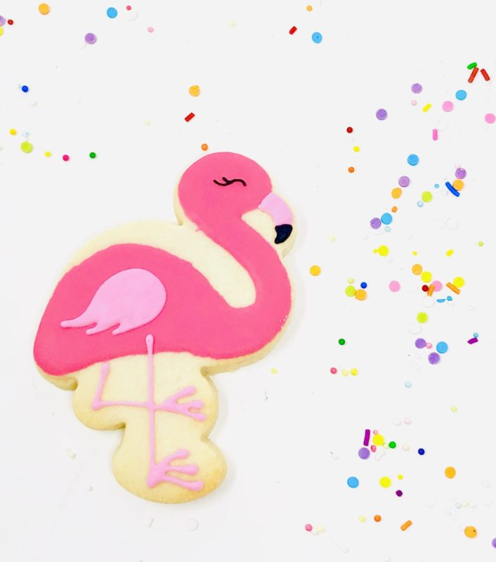 Vegan Flamingo Cookies