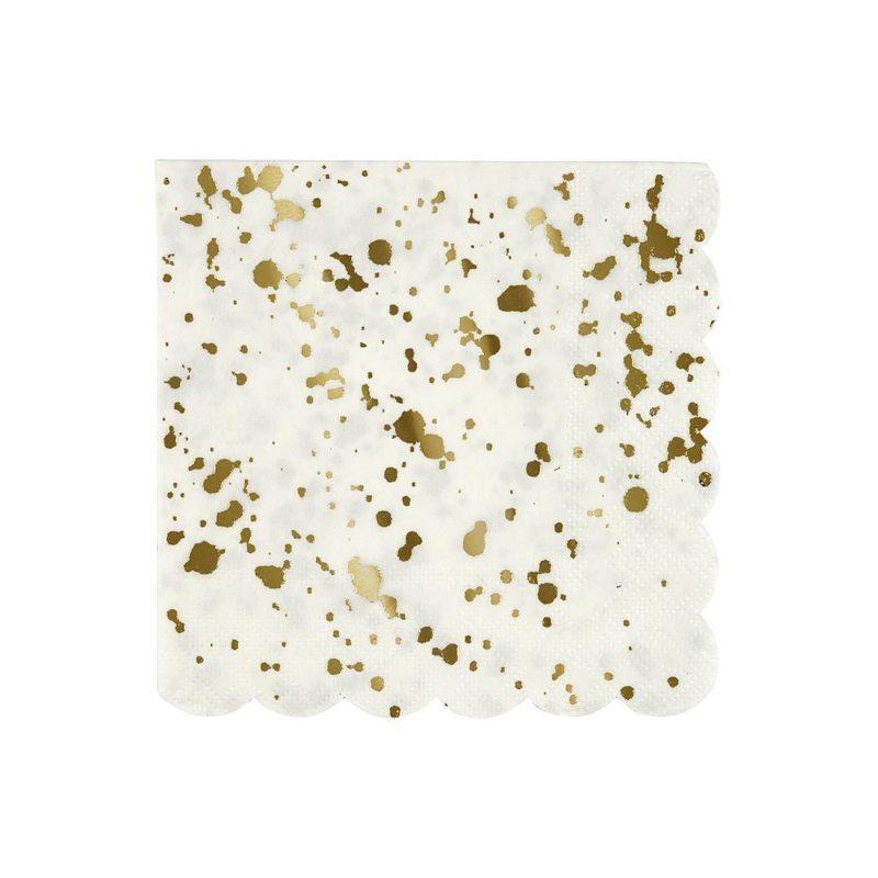 Gold Splatter Napkins