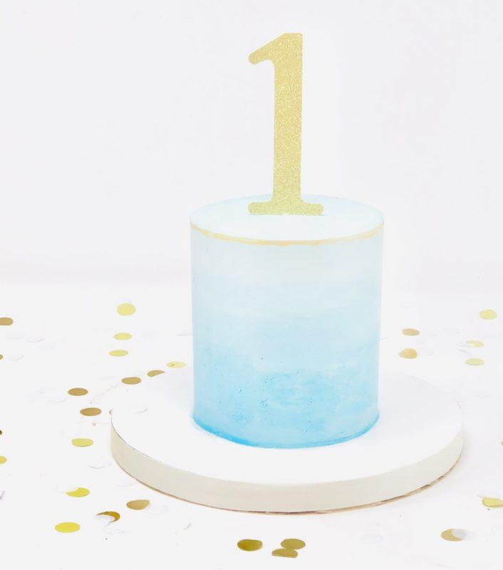 Luxe Ombre Smash Cake