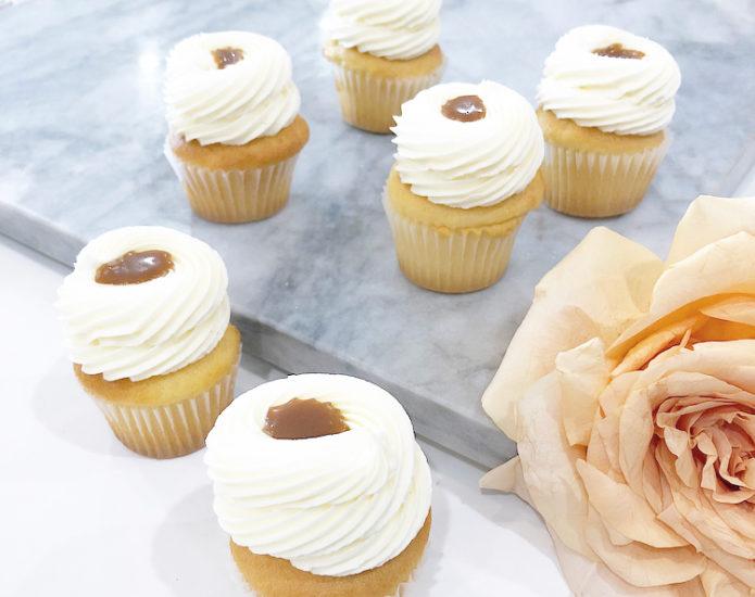 Classic Salted Caramel Mini Cupcakes