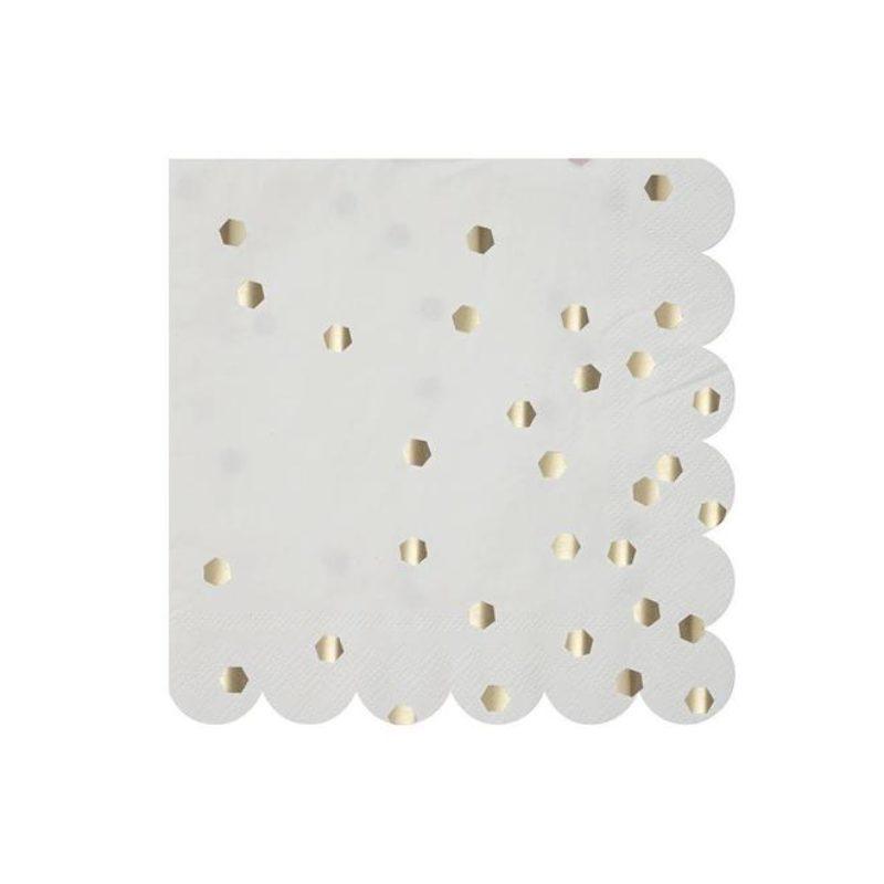 Silver Confetti Napkins