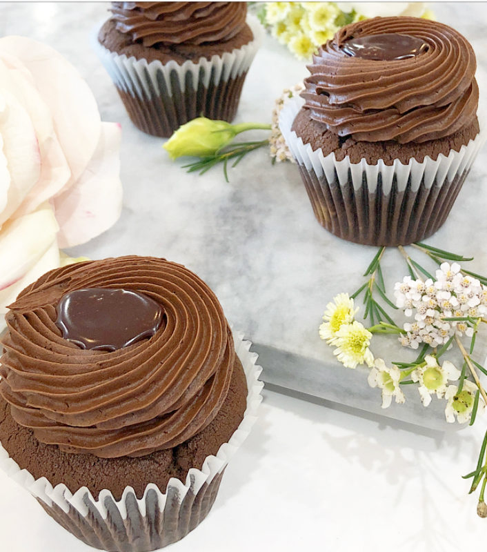 Classic Triple Chocolate Cupcakes