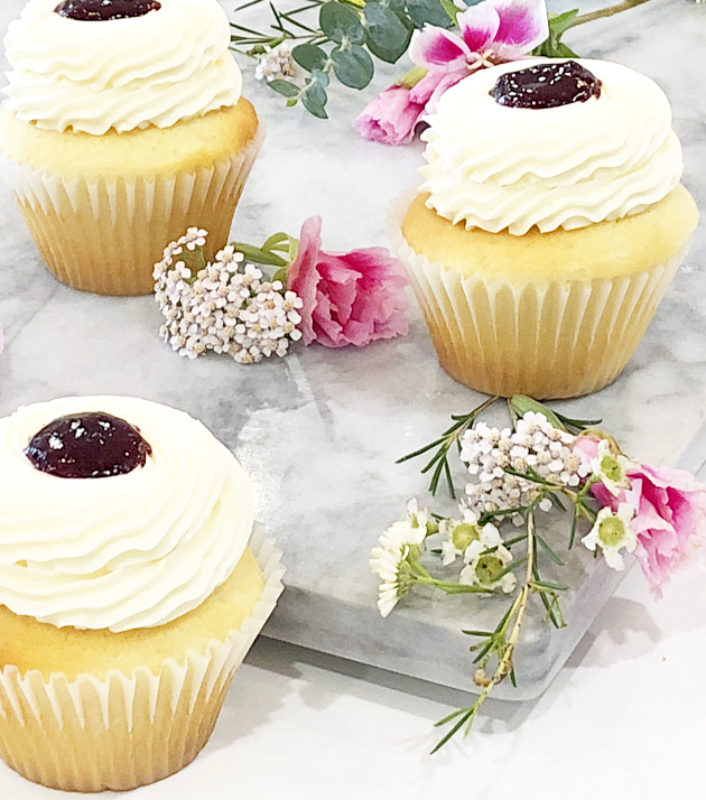 Lemon Berry Cupcakes