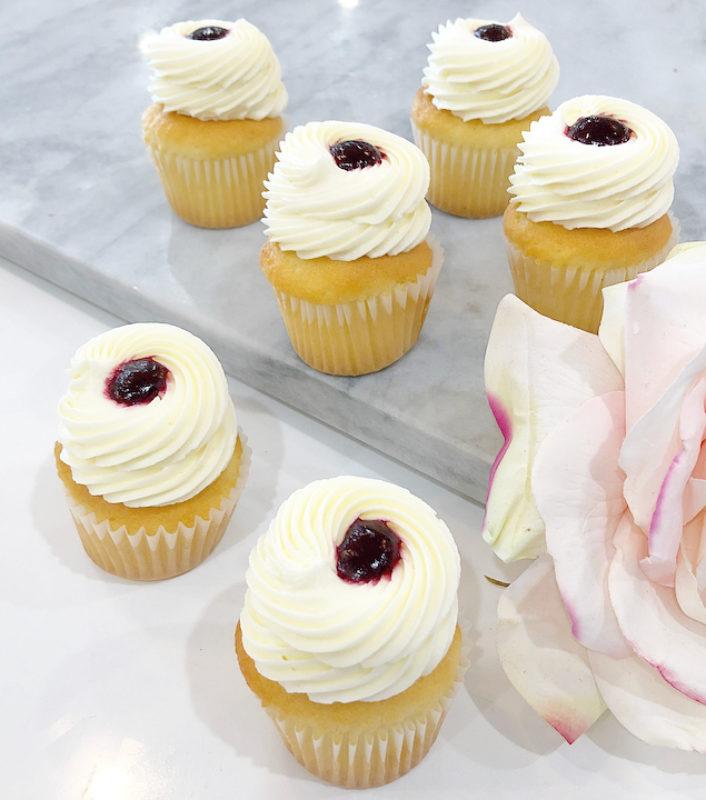 Classic Lemon Berry Mini Cupcakes