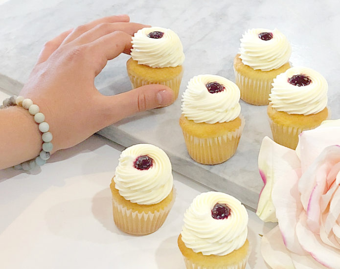 Classic Vanilla Berry Mini Cupcakes