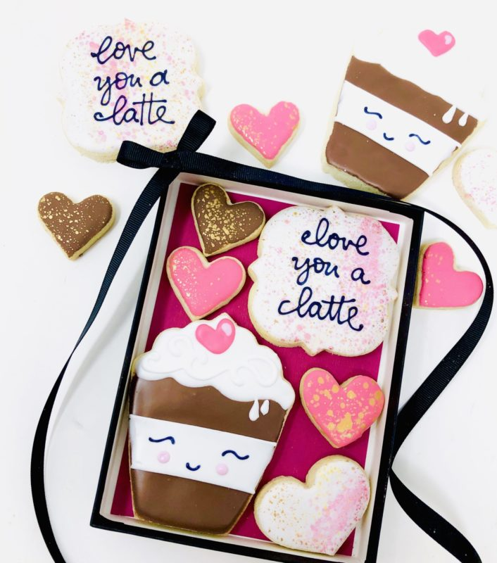 Love You A Latte Cookie Set
