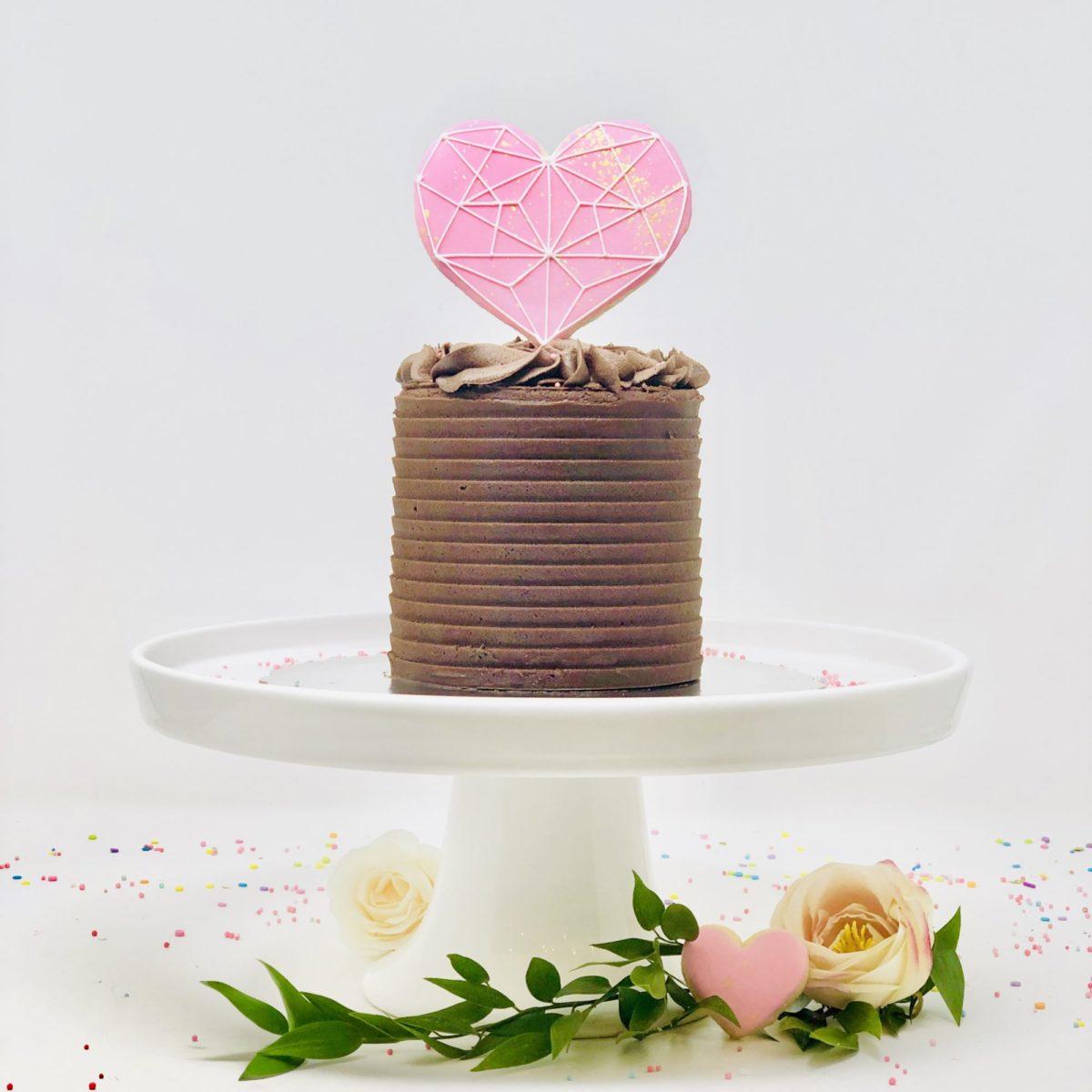 Vegan Valentine Cake