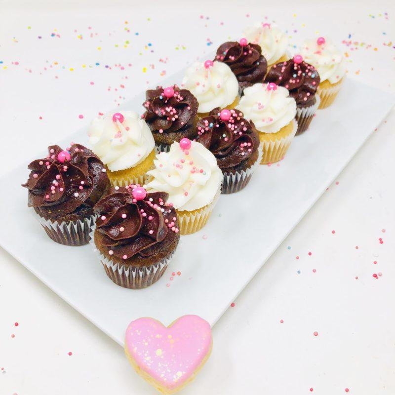 Vegan Valentine Mini Cupcakes