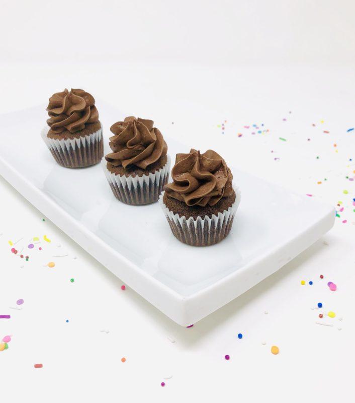 Vegan Chocolate Mini Cupcakes