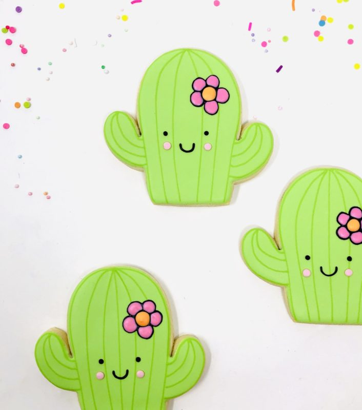 Cactus Shaped Cookies