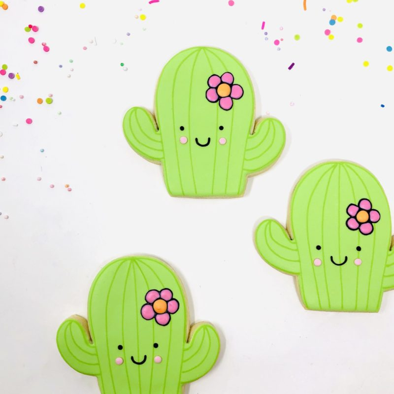Cactus Shaped Cookies – 6 Individually Packaged