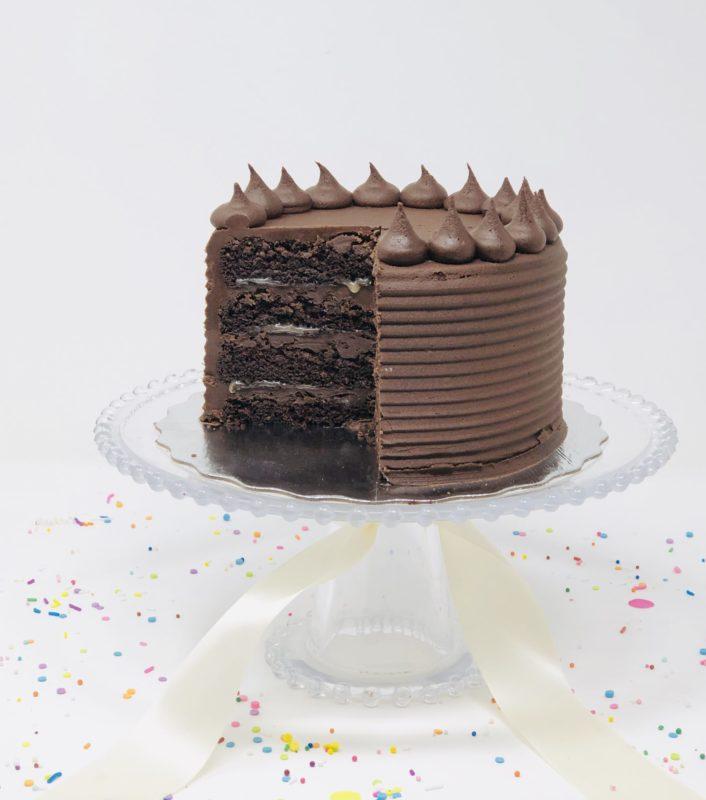 Vegan Chocolate Salted Caramel Cakes