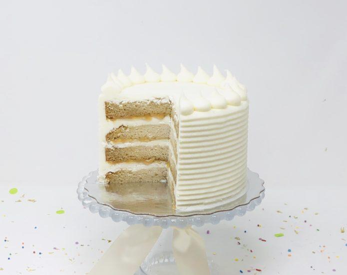 Vegan Vanilla Salted Caramel Cakes