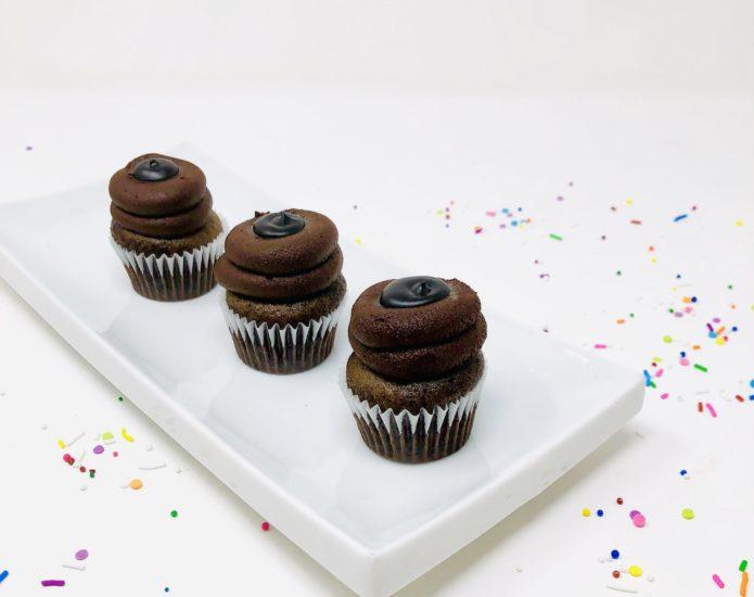 Vegan Chocolate Lover Mini Cupcakes