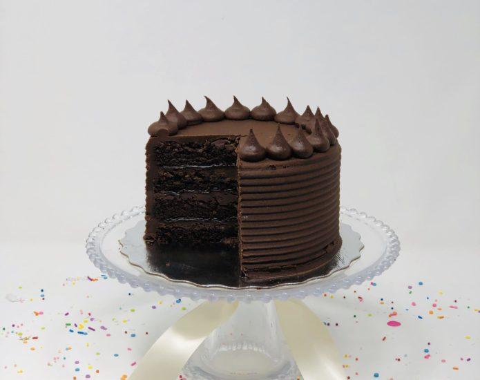 Vegan Triple Chocolate Cakes