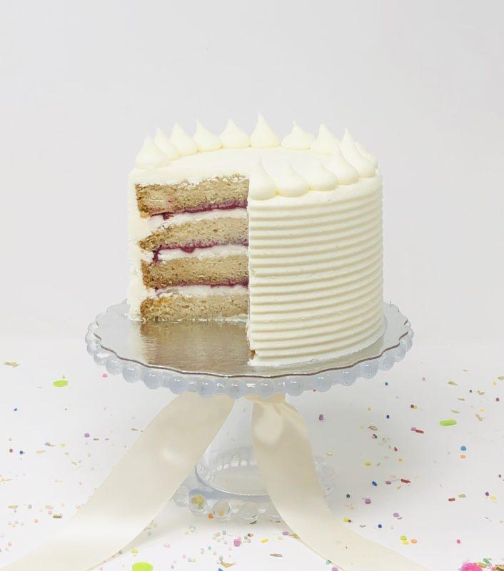 Vegan Vanilla Berry Cakes