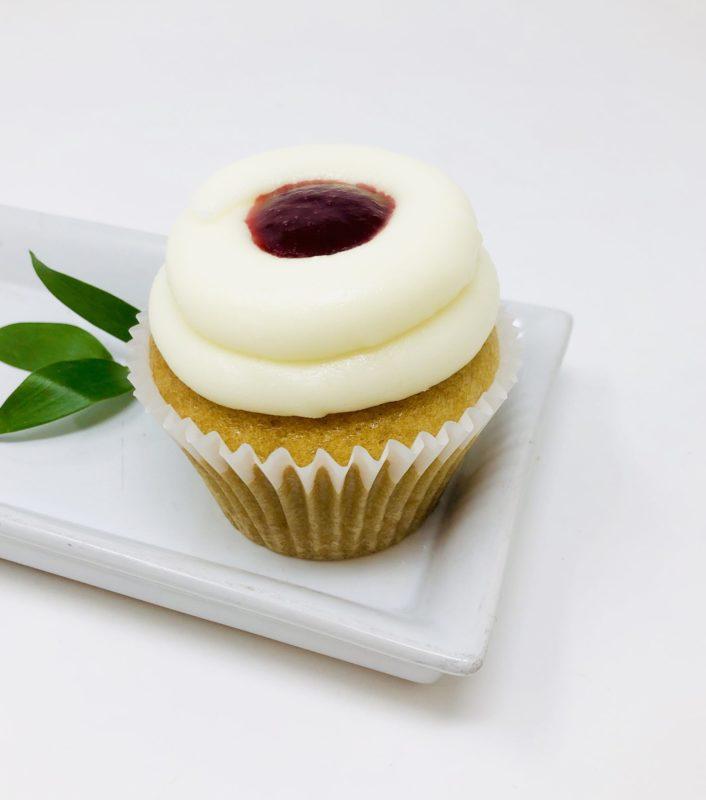Vegan Vanilla Berry Cupcakes