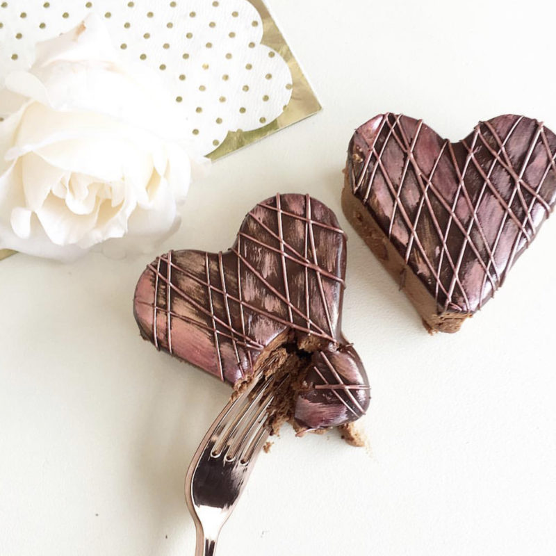 Valentine Chocolate Mousse Hearts