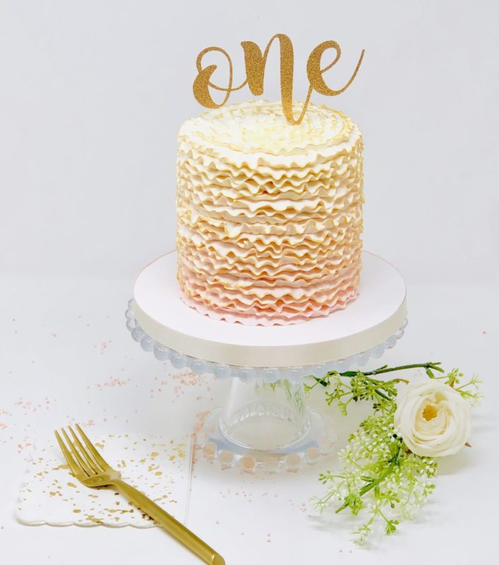 Luxe Ombre Ruffle Smash Cakes