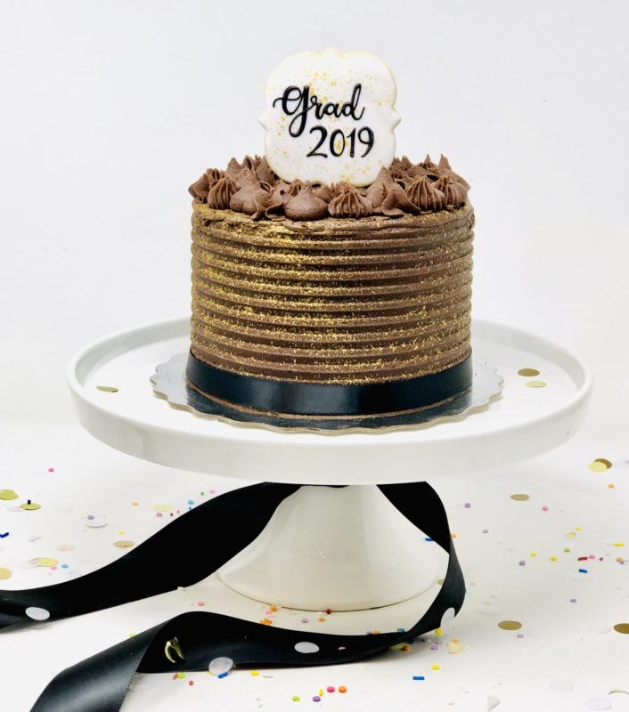Vegan Graduation Cake - Chocolate Caramel