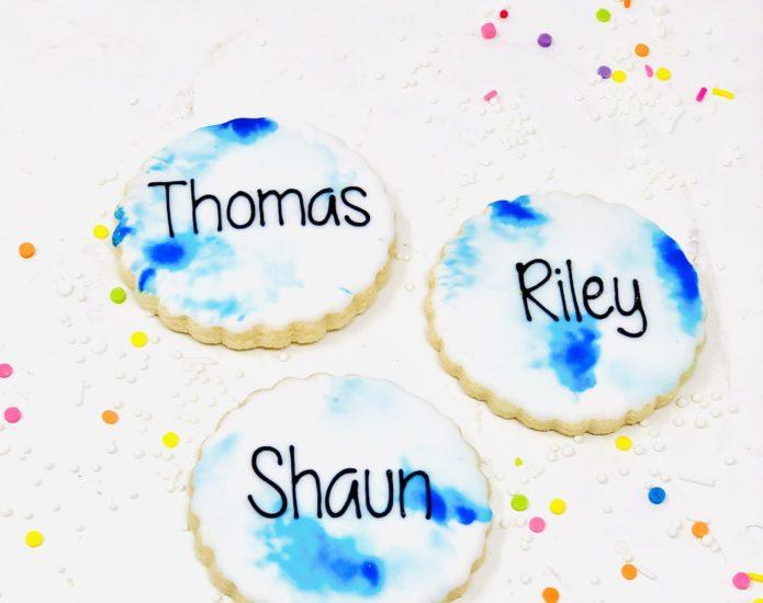 Vegan Blue Mini Cookies