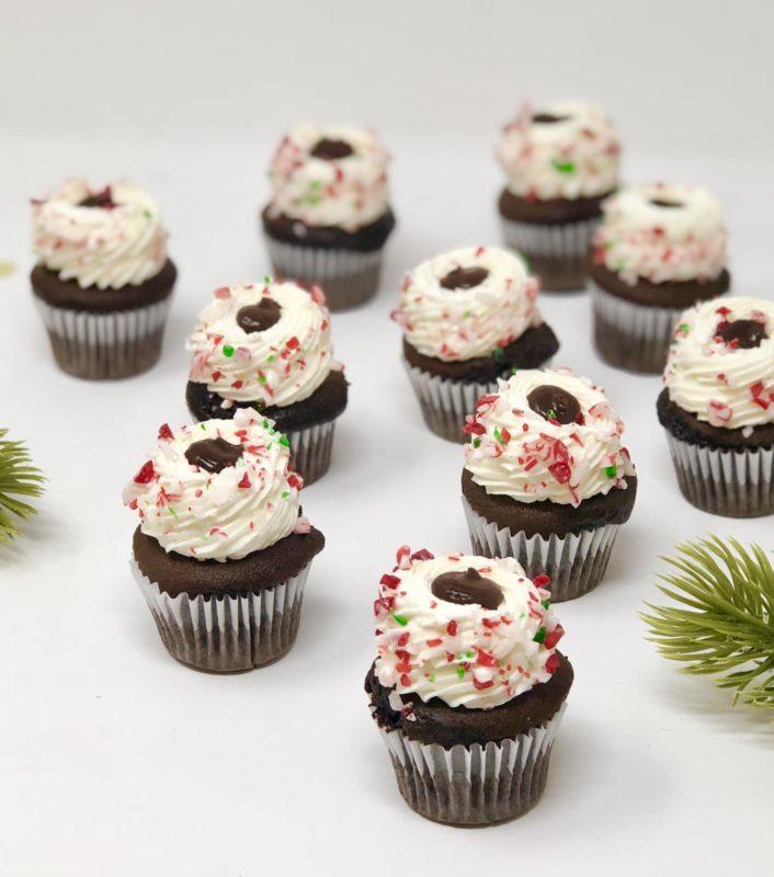 Chocolate Mint Mini Cupcakes (12)