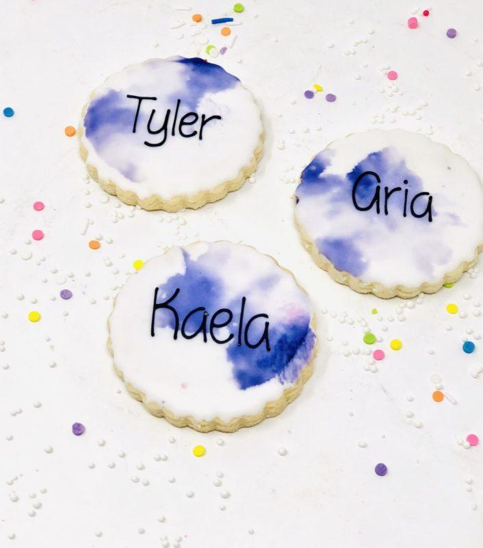 Purple Watercolour Mini Cookies