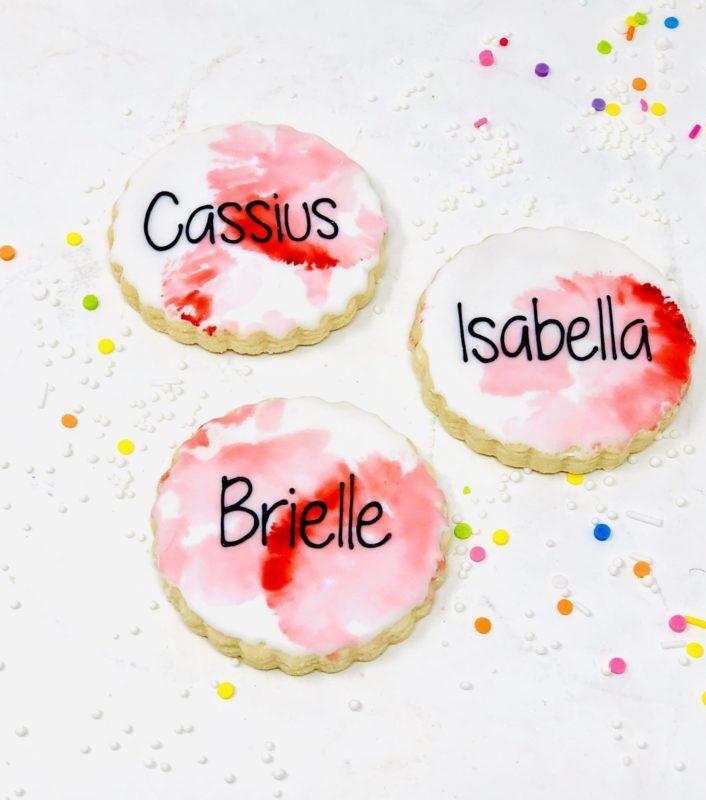 Red Watercolour Mini Cookies