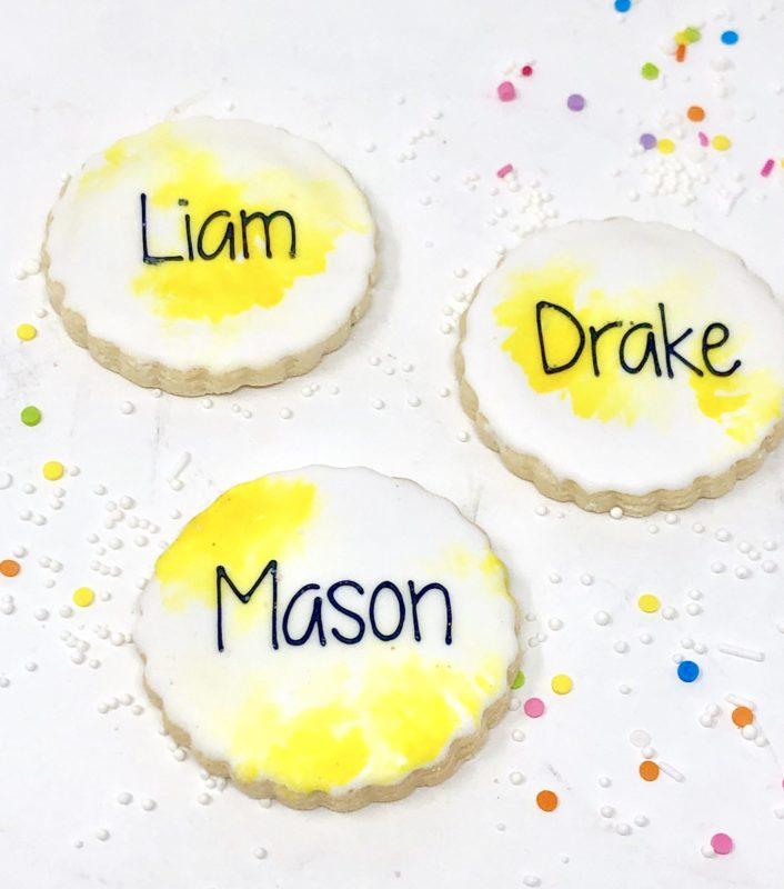 Yellow Watercolour Mini Cookies