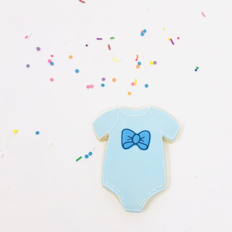 Vegan Blue Onesie Party Cookies (6)