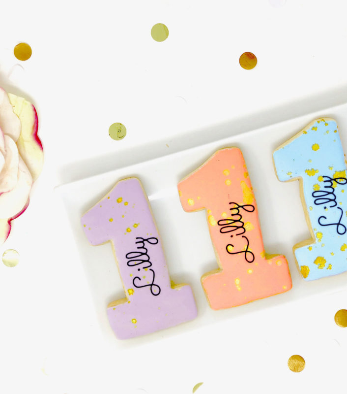 Vegan Personalized #1 Cookies