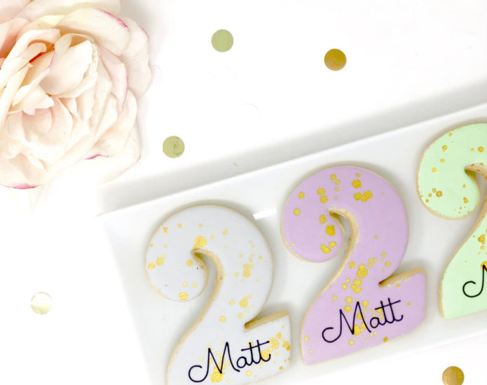 Vegan Personalized #2 Cookies