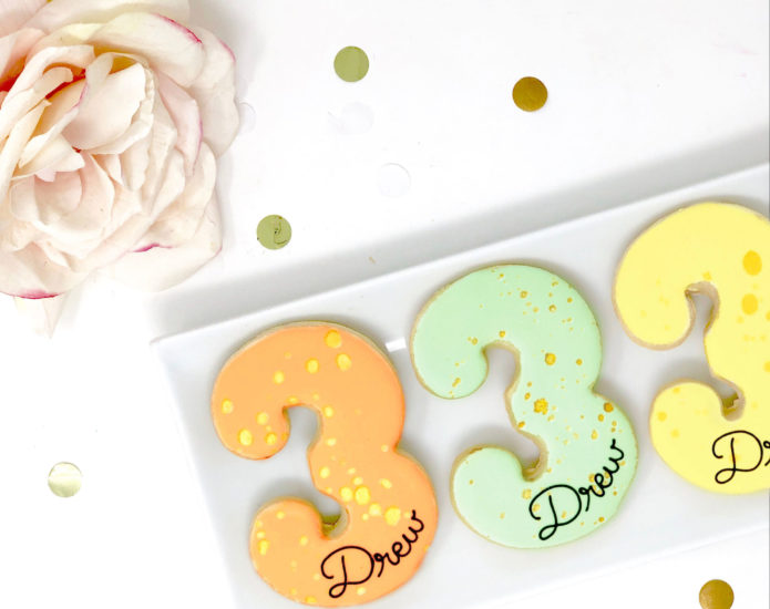 Vegan Personalized #3 Cookies