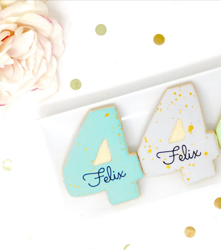 Vegan Personalized #4 Cookies