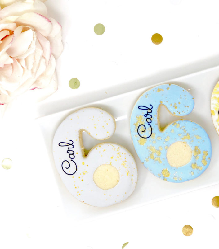 Vegan Personalized #6 Cookies