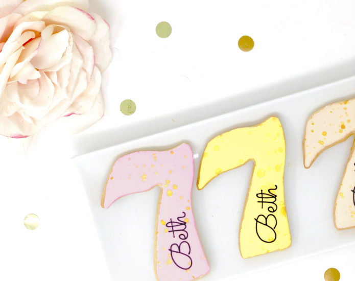 Vegan Personalized #7 Cookies