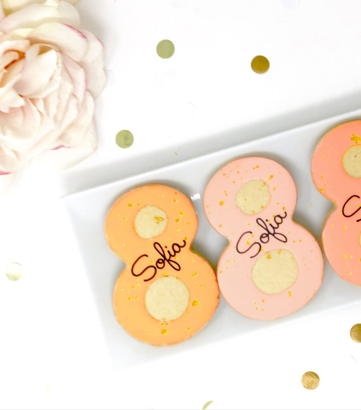 Vegan Personalized #8 Cookies