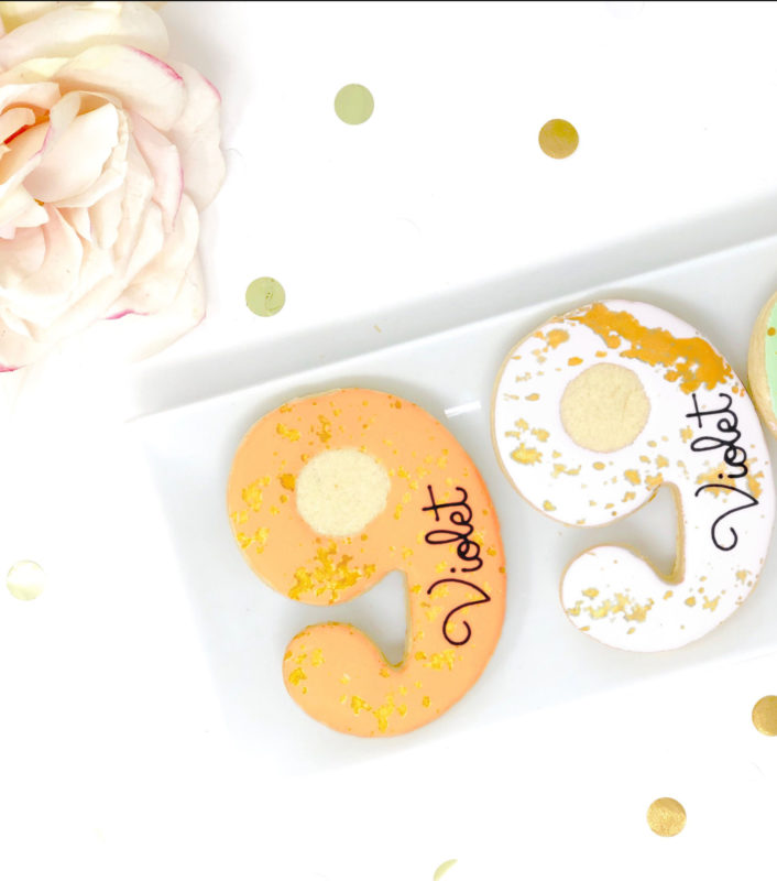 Vegan Personalized #9 Cookies
