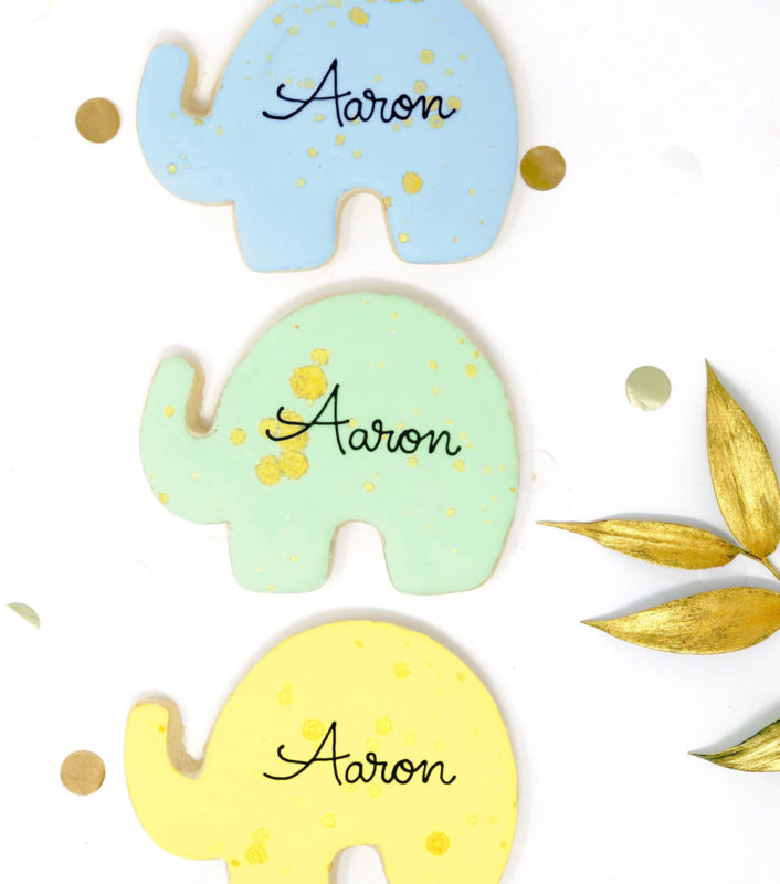 Vegan Personalized Elephant Cookies