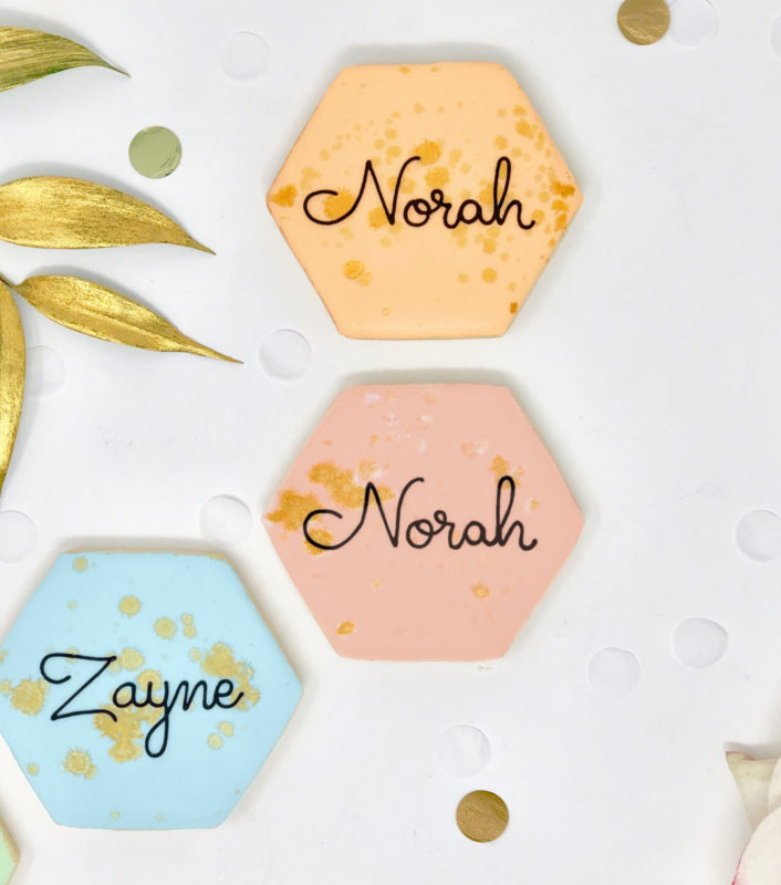 Vegan Personalized Hexagon Cookies